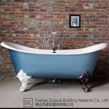 Vintage Free Standing Clawfoot Enamel Coated Cast Iron Bath Tub (CZ-J021)