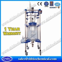 50L Jacket Glass Reactor Bioreactor Keratin Glue for Bonding