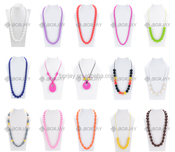 Food Grade Teething Necklace / Silicone Teething Product For Baby