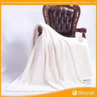 White sofa 100% polyester synthetic fur blanket
