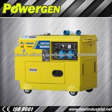 La venta caliente!!! Powergen sola fase 5kw portátil generador diesel silencioso