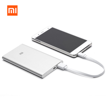 Ultra Slim Thin 9.9mm Portable Mobile Charger Original Xiaomi Power Bank 5000mah