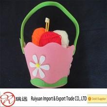2015 Alibaba handmade felt easter gift basket