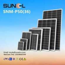 50W small solar panel for 12V DC battery lighting system