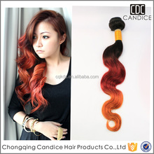 Stunning Remy Brazilian Hair and Body Wave Two Colors Human Hair Extension