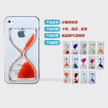 2014 newest transparent cover case for iphone, colorful Hourglass phone case for iphone5, transparent PC funnel phone case