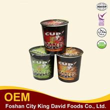 Commerci all'ingrosso di sicurezza halal ramen cup noodle istantanei indonesia