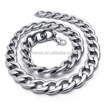Stainless Steel Long Link Curb Chain, Stainless Steel Jewelry Chain