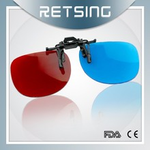Red and blue Clip-On flip up glasses eyewear
