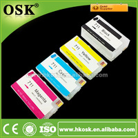 T520 Refillable ink cartridge for HP 711 Black Cyan Magenta Yellow