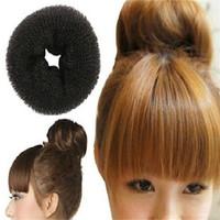 Fashion women hair bun donut /donut hair accessories bun/black hair donut