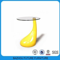 2015 modern home furniture colorful fiber glass coffee table