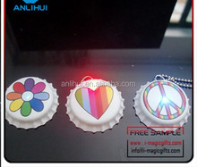 High Quality led flashing Bottle Cap with button on/off switch