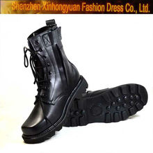 camouflage military boots with side zipper