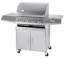 Eco-friendly All stainless steel gas grill 4 burners gas Barbecue grill 4 B+1SB