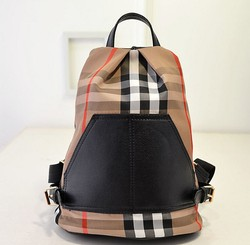14907 New Arrivals 2015 Women's New Fashion bag Canvas Handbags Grid Backpack