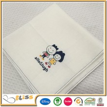 High quality most popular baby muslin color handkerchief bamboo muslin towel
