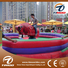 Popular electric mechanical rodeo bull kids and adults inflatable carnival games sale