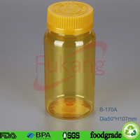 150ml Empty Vitamin Capsule Drug Holder Plastic Pill Bottles Medicine Container