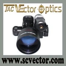Vector Optics Sideswipe 2.5-10x40 Green Laser Range Finder Rifle Scope with Hunting Green Laser Sight