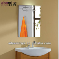 2013 high quality wash basin mirror magnifying mirror glass rectangle cosmetic mirror