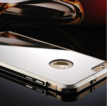 Luxury Makeup With Light Mirror Case Metal Mirror Bumper Case Cover For Apple iPhone 6 iPhone 6 Plus