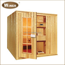 Wholesale cheap luxury dry and wet freestanding far infrared home sauna for sale