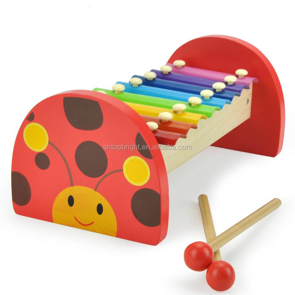 1 jaar kind schattige lieveheersbeestje ontwerp acht tonen op piano familie goedkope houten - Ontwerp kind ...