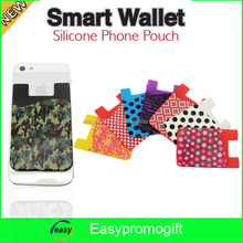 New product 3M sticker mobile phone smart wallet silicone card pocket