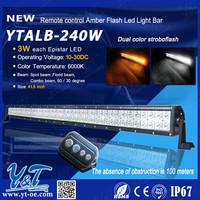 Super cool flash light bar 42' straight offroad flash light bar atv led light bar, remote control emergency use light bar flash