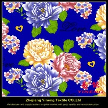 polyester home textile flower designs cushion cover fabric painting