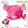 Pet toys free samples Mahjong pig plush squeaker pet toy