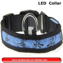 Hot sell led collar, dog led collar, flashing lights dog collar with so many colors to choice and including M,L,S Size