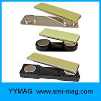 Plastic magnetic reusable name badge holder