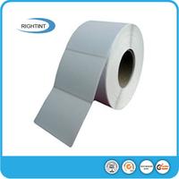 Self adhesive thermal paper roll for inkjet printing