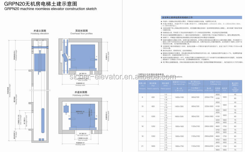6 Person Passenger Elevator And Lift With Germany Elevator
