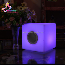 Multi media cube square shaped mini bluetooth speaker for mobile phone with led light remote control