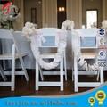 blanc de pliage chaise de jardin en plastique
