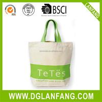 promotion cotton tote bag/plain white cotton bag/cheap logo shopping tote bags
