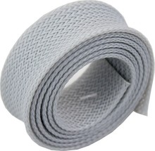 grey protective cable sleeve for wires and cables