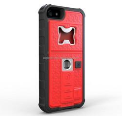 Lighter bottle opener tripod supported cell phone case for iphone 5, case for iphone 5s