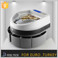 Automatic digital Electronic bank coin counting sorter machine commercial Euro electric change sorting coin counter machine