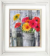 yiwu kaina canvas flower oil painting diamond oil painting
