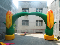 2015 Hot sale inflatable corn arch, inflatable maize arch for advertising