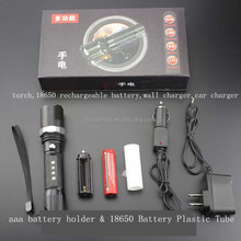 guidesman police 18650 battery and charger led flashlight.