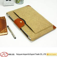 Wholesale High Quality Leather Wrap Angle Snap-fastener Felt Laptop Sleeve From Alibaba Gold Supplier