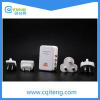 Hi-Q 4 Ports Quad USB Multi High Power AC Travel Wall Charger