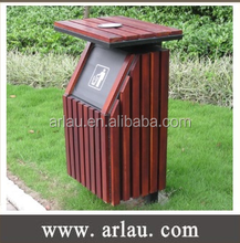 Timber Slated Bin Ideal for Parks outdoor use