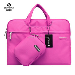 Unique fashionable cute handbag for Macbook sleeve cases with hidden handle and mouse pad