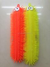 Luminous TPR 33 cm shiny plastic toys plush Caterpillar Caterpillar convex eye flash bar glow ball Caterpillar mixed batch